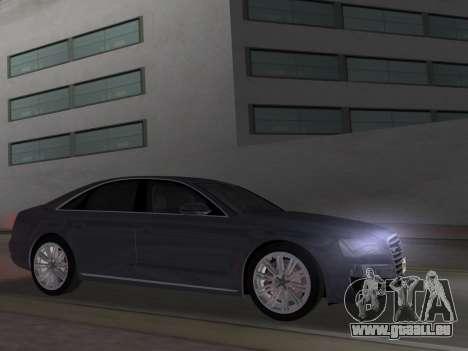 Audi A8 2010 W12 Rim1 pour une vue GTA Vice City de la gauche
