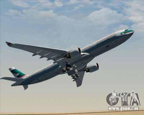 Airbus A330-300 Cathay Pacific für GTA San Andreas obere Ansicht