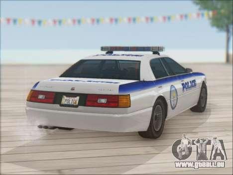 Admiral Police pour GTA San Andreas vue de dessus