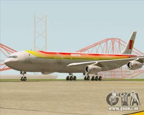 Airbus A340 -313 Iberia für GTA San Andreas linke Ansicht