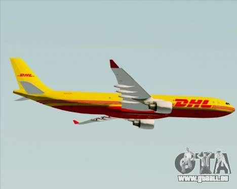 Airbus A330-300P2F DHL für GTA San Andreas Rückansicht