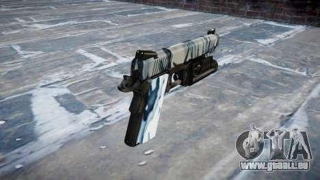 Pistolet Kimber 1911 Crânes pour GTA 4 secondes d'écran