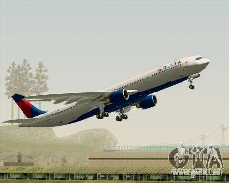 Airbus A330-300 Delta Airlines pour GTA San Andreas vue de dessous