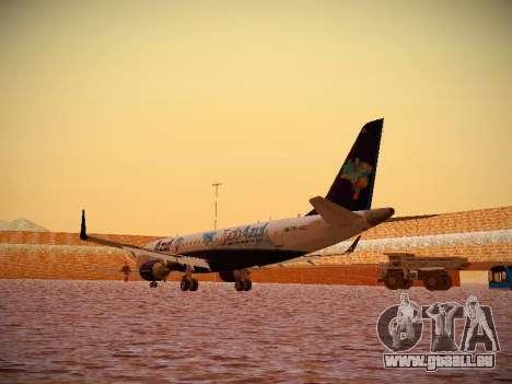 Embraer E190 Azul Tudo Azul pour GTA San Andreas sur la vue arrière gauche