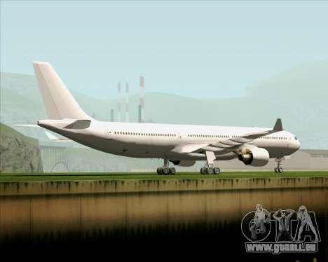 Airbus A330-300 Full White Livery pour GTA San Andreas sur la vue arrière gauche