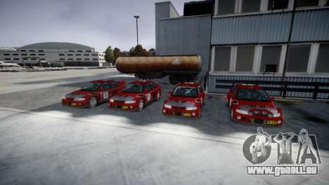 Mitsubishi Lancer Evolution VI Rally für GTA 4 Rückansicht