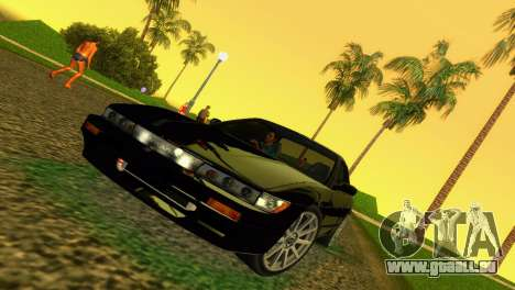 Nissan Silvia S13 RB26DETT Black Revel für GTA Vice City linke Ansicht