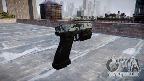 Pistole Glock 20 Schädel für GTA 4 Sekunden Bildschirm