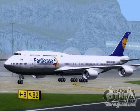 Boeing 747-830 Lufthansa - Fanhansa pour GTA San Andreas vue intérieure