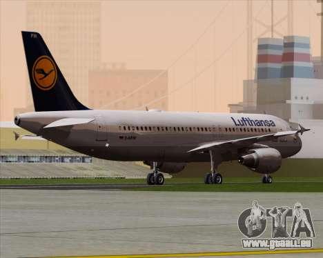 Airbus A320-211 Lufthansa für GTA San Andreas rechten Ansicht