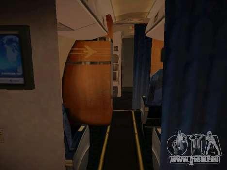 Embraer E190 Azul Tudo Azul pour GTA San Andreas vue intérieure