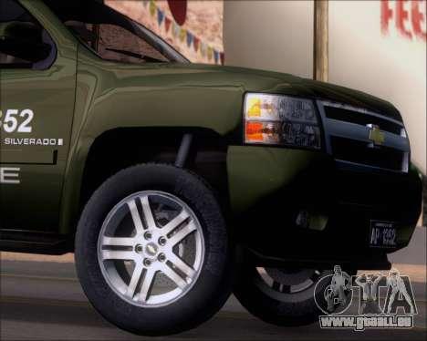 Chevrolet Silverado Gope pour GTA San Andreas vue de côté