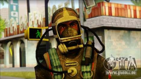 Plongeur pour GTA San Andreas troisième écran