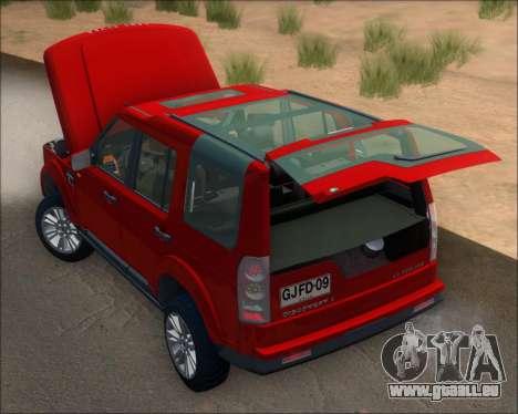 Land Rover Discovery 4 pour GTA San Andreas vue de côté