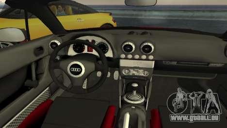 Audi TT Coupe BiMotor Black Revel pour une vue GTA Vice City de l'intérieur