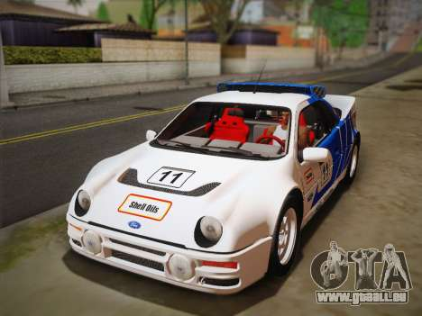 Ford RS200 Evolution 1985 pour GTA San Andreas