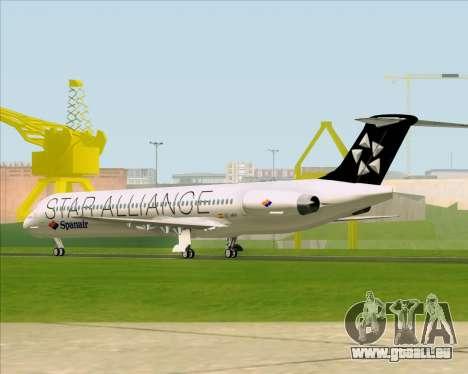 McDonnell Douglas MD-82 Spanair für GTA San Andreas rechten Ansicht