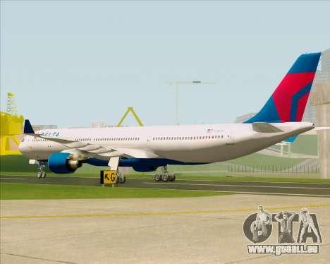 Airbus A330-300 Delta Airlines pour GTA San Andreas vue de droite