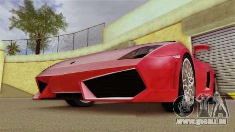 Lamborghini Gallardo LP 560-4 pour une vue GTA Vice City de la gauche