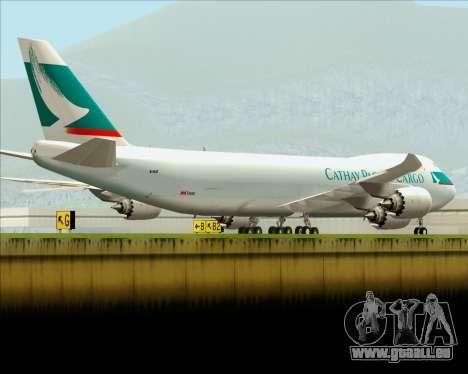 Boeing 747-8 Cargo Cathay Pacific Cargo pour GTA San Andreas moteur