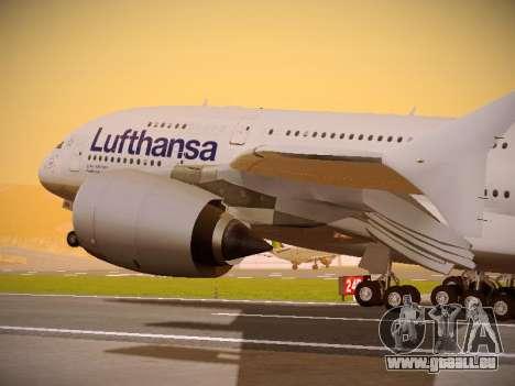 Airbus A380-800 Lufthansa pour GTA San Andreas vue de côté