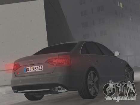 Audi S4 (B8) 2010 - Metallischen pour une vue GTA Vice City d'en haut