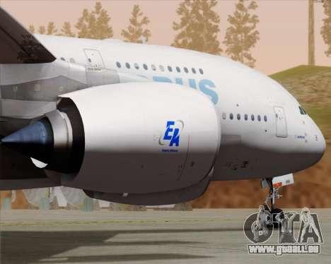 Airbus A380-861 für GTA San Andreas Innenansicht