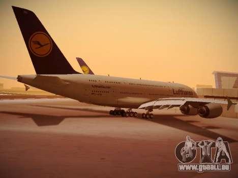 Airbus A380-800 Lufthansa pour GTA San Andreas vue de droite