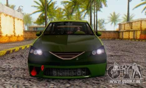 Dacia Logan MOR für GTA San Andreas zurück linke Ansicht