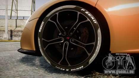 McLaren 650S Spider 2014 [EPM] Pirelli v2 pour GTA 4 Vue arrière