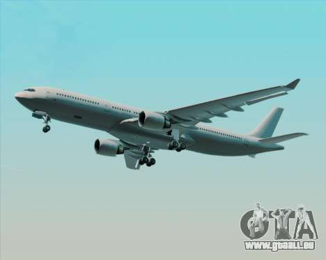 Airbus A330-300 Full White Livery für GTA San Andreas obere Ansicht