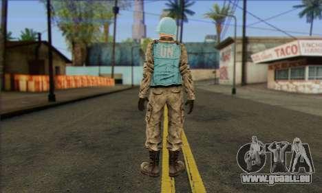 Un gardien de la paix de l'ONU (Poste 3) pour GTA San Andreas deuxième écran
