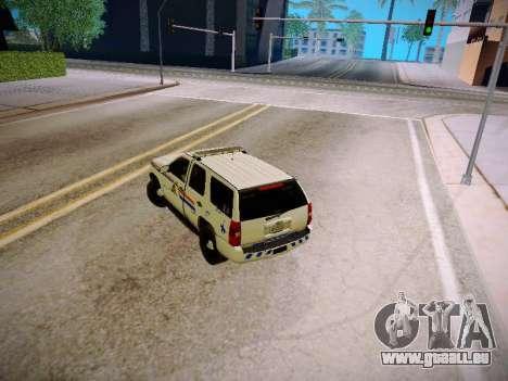 Chevrolet Tahoe 2007 RCMP für GTA San Andreas Innenansicht