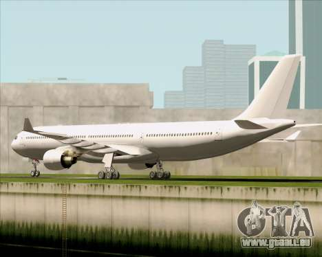 Airbus A330-300 Full White Livery pour GTA San Andreas vue de droite
