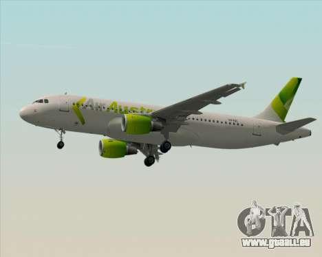 Airbus A320-200 Air Australia für GTA San Andreas Unteransicht