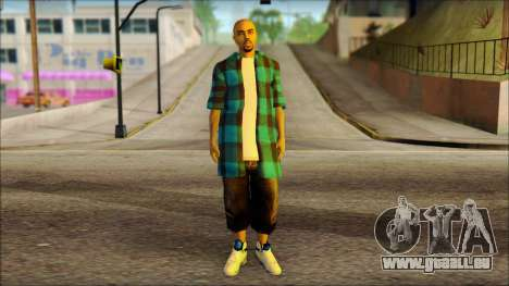 Los Aztecas Gang Skin v3 für GTA San Andreas