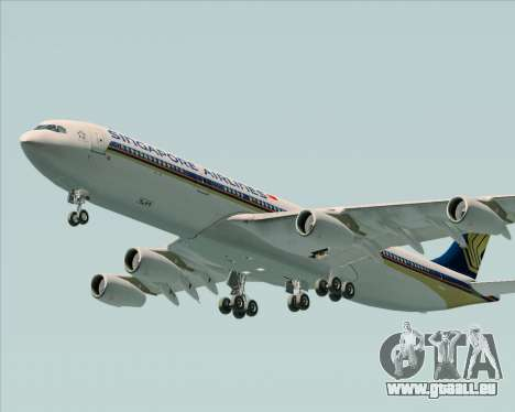 Airbus A340-313 Singapore Airlines für GTA San Andreas obere Ansicht