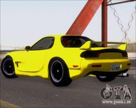 Mazda RX-7 FD3S A-Spec pour GTA San Andreas sur la vue arrière gauche
