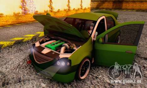Dacia Logan MOR für GTA San Andreas Seitenansicht