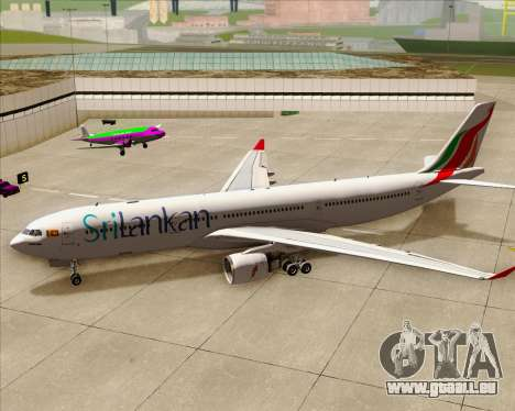 Airbus A330-300 SriLankan Airlines für GTA San Andreas obere Ansicht