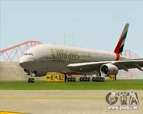 Airbus A380-841 Emirates pour GTA San Andreas vue de dessous