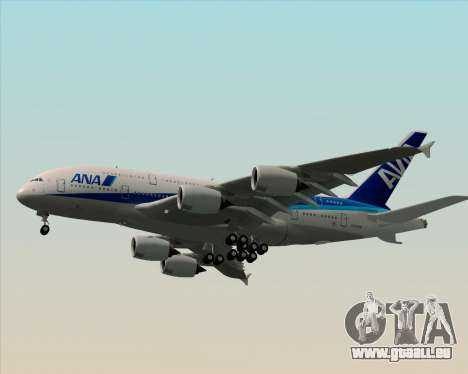 Airbus A380-800 All Nippon Airways (ANA) für GTA San Andreas obere Ansicht