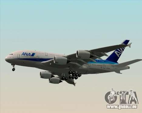Airbus A380-800 All Nippon Airways (ANA) für GTA San Andreas obere Ansicht