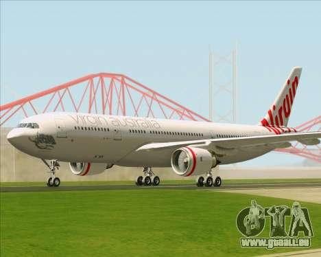 Airbus A330-200 Virgin Australia pour GTA San Andreas vue arrière