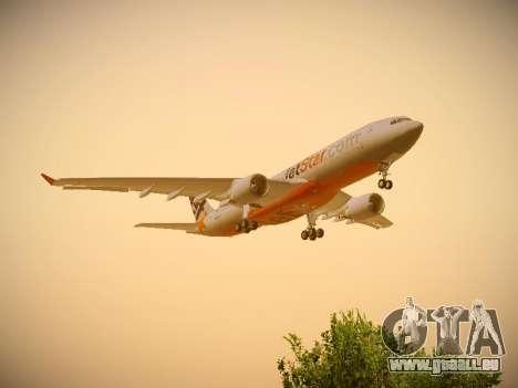 Airbus A330-200 Jetstar Airways für GTA San Andreas Innenansicht