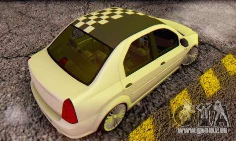 Dacia Logan ZYCU pour GTA San Andreas sur la vue arrière gauche