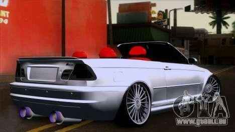 BMW M3 E46 Cabrio pour GTA San Andreas laissé vue