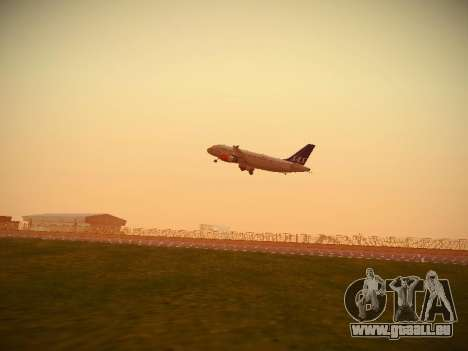 Airbus A319-132 Scandinavian Airlines für GTA San Andreas Innenansicht