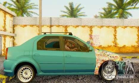 Dacia Logan 1.6 MPI Tuning pour GTA San Andreas laissé vue