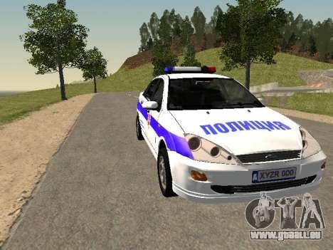 Ford Focus Polizei Nishnij Nowgorod für GTA San Andreas Rückansicht